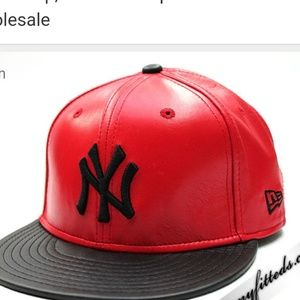 New era NY leather hat